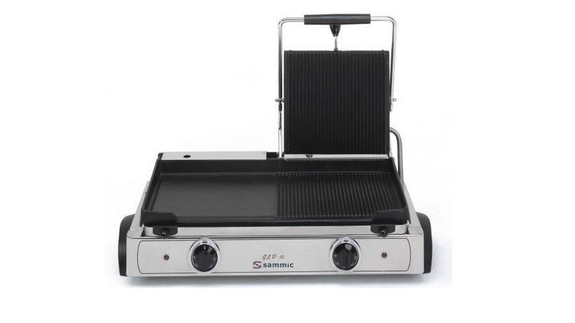 Contact grill dublu baza neteda si striata 555x225 mm GLD-10 SAMMIC