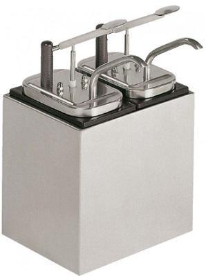 Dispenser 2 pompe sosuri, neutru, 05-51532, NEUMARKER