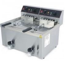 Friteuza electrica de banc 8+8 litri 2 cosuri FE-8+8 SAMMIC
