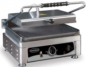 Contact grill, simplu, baza striata, L510 mm, COMBISTEEL#1