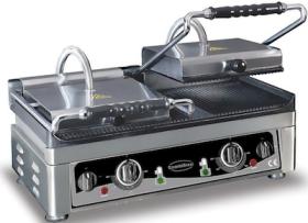 Contact grill, dublu, baza striata, L560 mm, COMBISTEEL#1