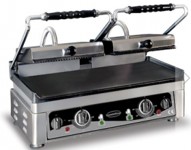 Contact grill, dublu, baza neteda, L560 mm, COMBISTEEL#1