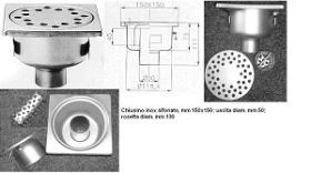 Sifon inox de pardoseala cu iesire verticala C1550R#1