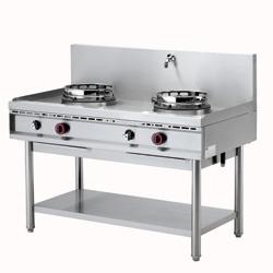 Masina gatit tip wok cu sistem spalare, 2 arzatoare, gaz WGL2-13 DIAMOND#1