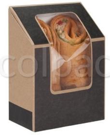 Cutie sandwich 'Café Today' tuck-top tortilla pack (dark grey) 01TS5TCS COLPAC#1