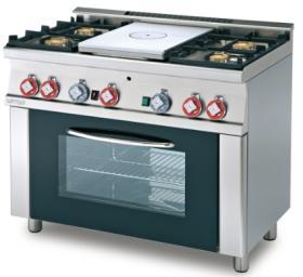 Plita miez refractar+4 arzatoare gaz cu, cuptor electric, linia 600, TPF4-610GEM LOTUS#1