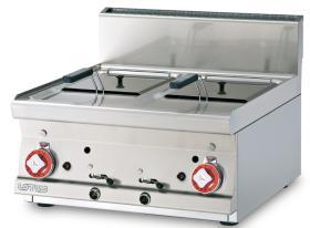 Friteuza top, gaz, dubla, 8+8 litri, linia 600, F2/8T-66G LOTUS#1