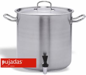 Oala scoici cu robinet si capac, INOX PRO, P248028, PUJADAS#1