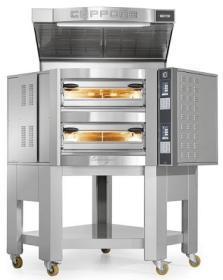 Cuptor vatra 8+8 pizza, angular, electric, CR835/2TS, Caravaggio TS, CUPPONE#1