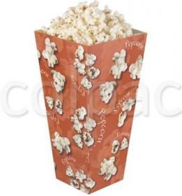 Cutii Popcorn -White and Red Stripes Medium Paperboard Carton -1695 ml 01PCBO2E COLPAC#1