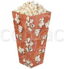 Cutii Popcorn -White and Red Stripes Paperboard Carton -835 ml 01PCB0E COLPAC#1