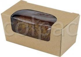 Cutie prajituri –Kraft Paperboard Small Cake Box with window 01SCB1 COLPAC#1