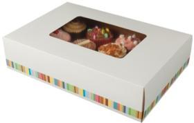Cutie prajituri –Twelve Cake Platter Box & Insert 01PL12CU COLPAC#1