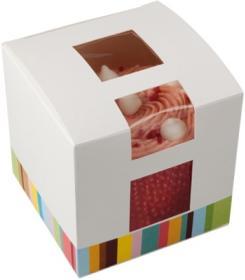Cutie prajituri –White Paperboard Single Cake Box with window 01CAKE1 COLPAC#1