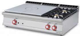 Plita miez refractar cu 2 arzatoare, top, gaz, linia 900, TP2T-912G LOTUS#1