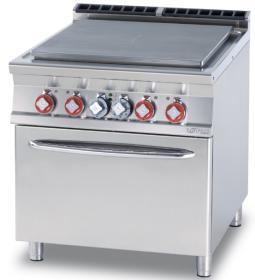 Plita solida + cuptor electric GN 2/1, electrica, linia 900, TPF-98ET, LOTUS#1