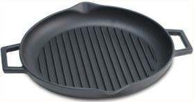 Tava cuptor rotunda tip grill cu manere, PL26, KOPA#1