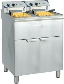 Friteuza dubla, 2 x 10 litri, electrica, cu suport, CFP102TB, CASSELIN#1