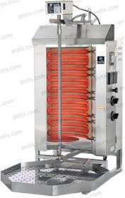 Aparat kebab/gyros, 2 elementi, electric, 30 kg, POTIS E2-S, POTIS#1