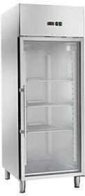 Dulap refrigerare, 650 litri, GN 2/1, usa din sticla, DR654TNG#1