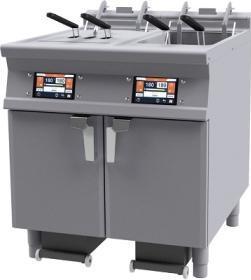 Friteuza electrica cu sistem de filtrare automat al uleiului, dubla, 36 litri si lift, F2/18-78ETDPS#1