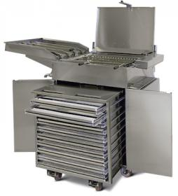 Friteuza gogosi electrica, semiautomata, 55 litri cu dospitor si carut, FRY48SC SEMI-AUTO, MAC.PAN#1