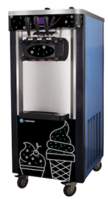 Masina de inghetata, soft ice-cream cu 3 manete si pompa de aer+suport, HKN-BQ66FPS, HURAKAN#1