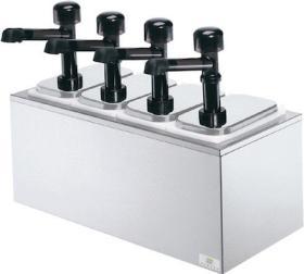 Dispenser sos 4 pompe policarbonat, neutru, SR-4 79870, SERVER#1
