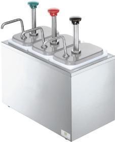 Dispenser sos 3 pompe otel inox, refrigerat, SB-3 83790 + 3 x 94141, SERVER#1