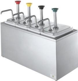 Dispenser sos 4 pompe otel inox, refrigerat, SB-4 83700 + 4 x 94141, SERVER#1