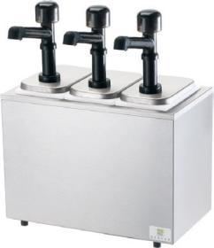 Dispenser sos 3 pompe policarbonat, refrigerat, SB-3 79810 + 3 x 94141, SERVER#1